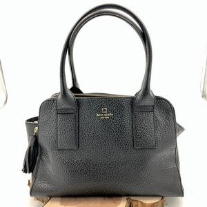 KATE SPADE Cobble Hill Black Leather Tassel Bag